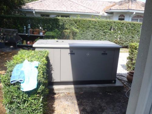 installed generator rear